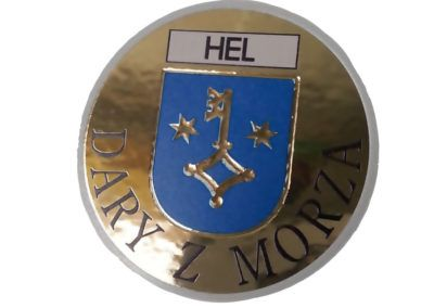 Decorative sticker with crest