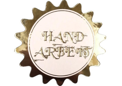 Golden elegant sticker, any shape available